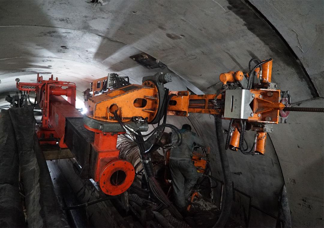 Probe Drilling در تونل نوسود