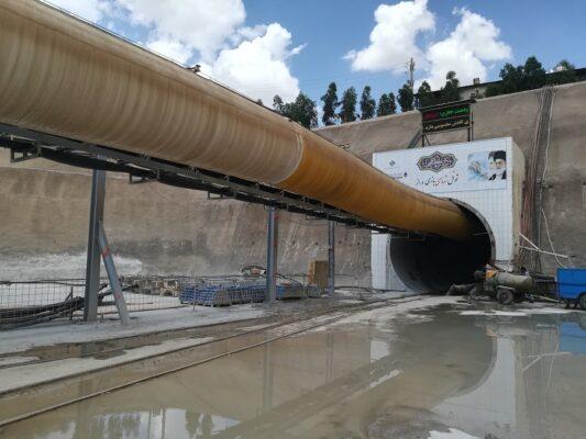 عملیات پراب دریل و تزریق در تونل انتقال آب بازی دراز